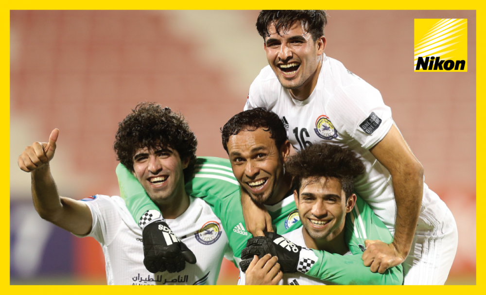 Al Zawraa Club players rejoice after a 1-1 draw with Jordan's Al Ahli on Tuesday secures the Iraqi side's place in the AFC Cup Zonal Semi-finals as Group A winners.