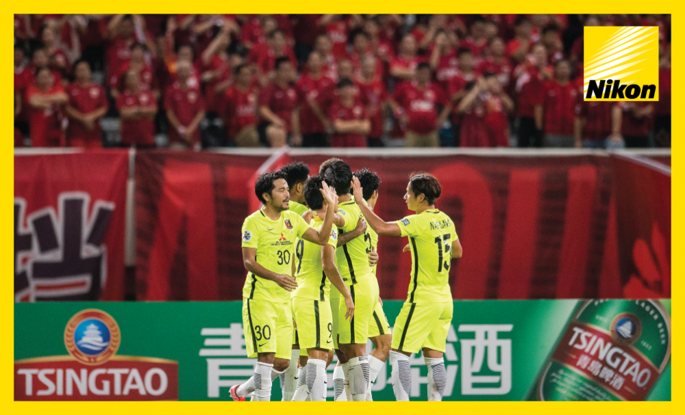Urawa Red Diamonds players congratulate each other after equalising in Wednesday's 1-1 draw with Shanghai SIPG to leave the second leg of the AFC Champions League semi-final in three weeks' time perfectly poised.
