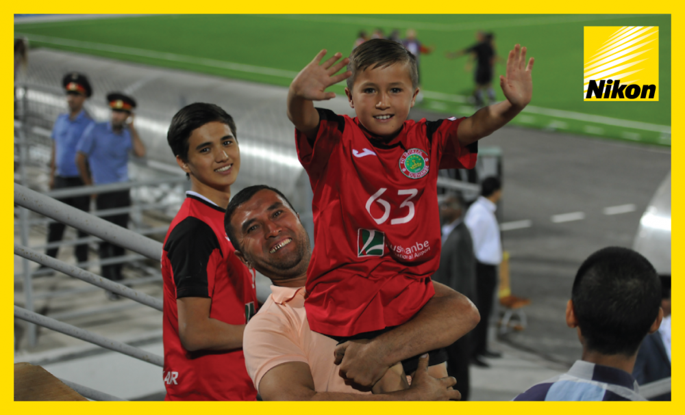 Young fan bears the number of his idol Manuchehr Dzhalilov, who scores twice as Tajikistan's FC Istiklol claim a resounding 4-0 win over Ceres Negros of the Philippines in Tuesday's AFC Cup Inter-Zone semi-final.