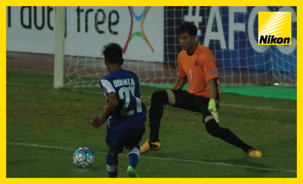 Udanta Singh slots home the second as India's JSW Bengaluru run out 3-0 winners over DPR Korea's 4.25 SC in the first leg of the AFC Cup Inter-Zone semi-finals at a saturated Sree Kantareeva Stadium on Wednesday.