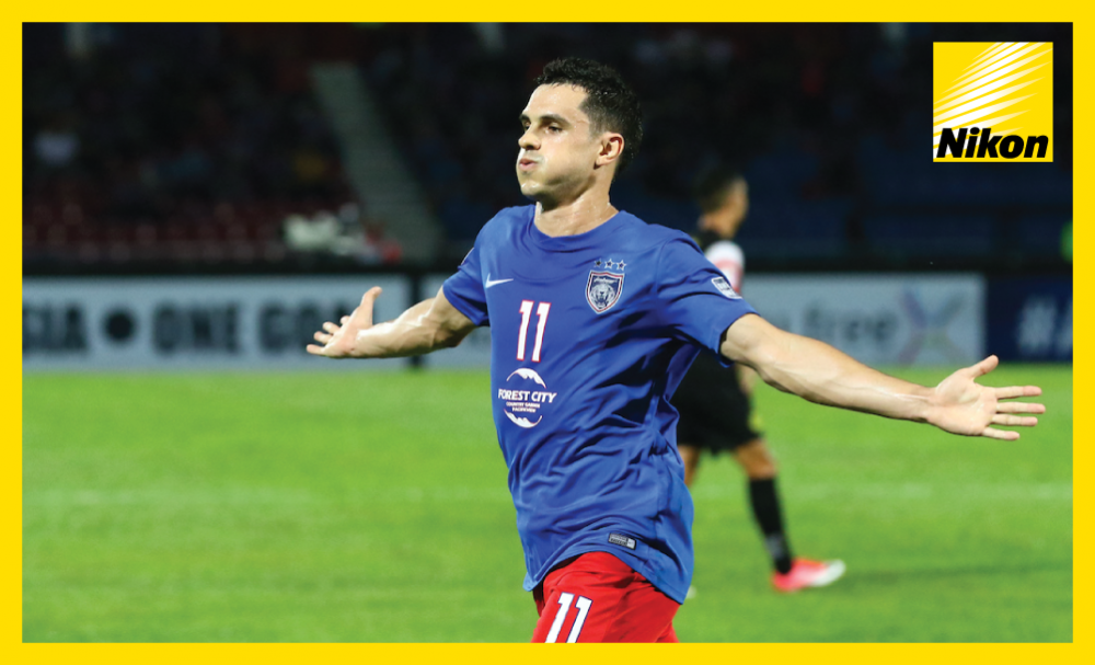 Argentine hitman Gonzalo Cabrera opens the scoring in the AFC Cup ASEAN Zonal Semi-final against Ceres Negros of the Philippines on Wednesday before Malaysia's Johor Darul Ta'zim eventually win the end-to-end first-leg tie 3-2.