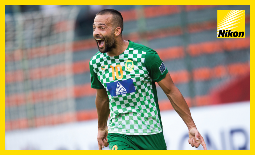 Aleksandar Rakic celebrates as Maziya Sports & Recreation claim back-to-back AFC Cup wins over India's Mohun Bagan as a 5-2 victory on Wednesday moves the Maldivians level on nine points with JSW Bengaluru at the top of the Group E standings.