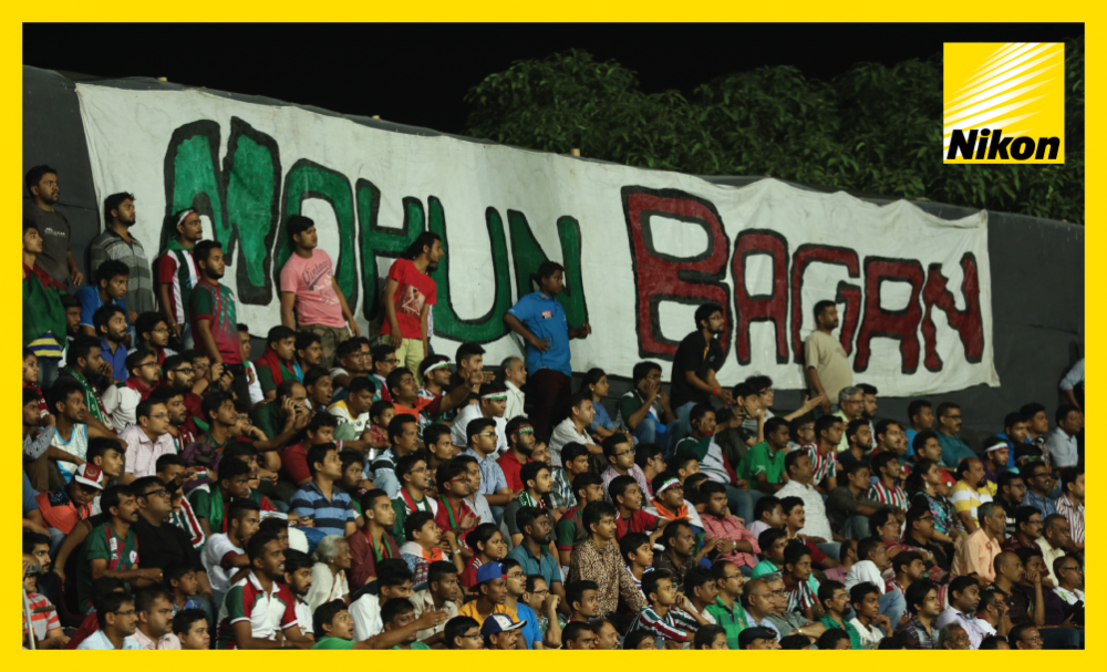 Mohun Bagan fans watch on as the Indian team secure their first points in Group E of the 2017 AFC Cup following a 3-1 win over Bangladesh's Abahani Limited Dhaka on Matchday Two.