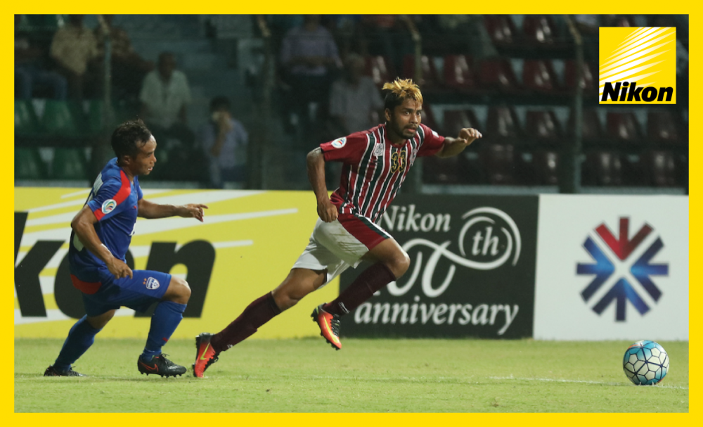 Mohun Bagan's Prabir Das moves into space as his team overcome Indian rivals JSW Bengaluru 3-1 in Group E of the AFC Cup on Wednesday to put a huge dent in their opponents' qualification hopes.