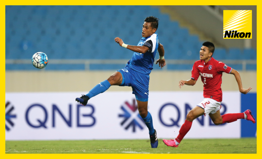 Khairul Nizam's stunning volley opens the scoring for Home United in Singaporean side's action-packed 5-4 victory over Vietnam's Than Quang Ninh in Group H of the 2017 AFC Cup on Wednesday.