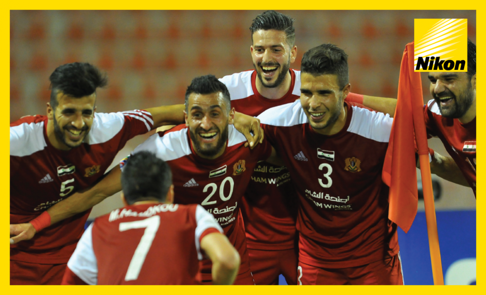 Al Jaish joy after scoring the only goal of the game in 1-0 AFC Cup Group A win over Oman's Al Suwaiq on Matchday Two.