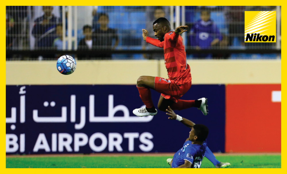 Lekhwiya's Ismail Mohammad hurdles a challenge in his side's 2-2 AFC Champions League Matchday Two draw with Al Fateh.