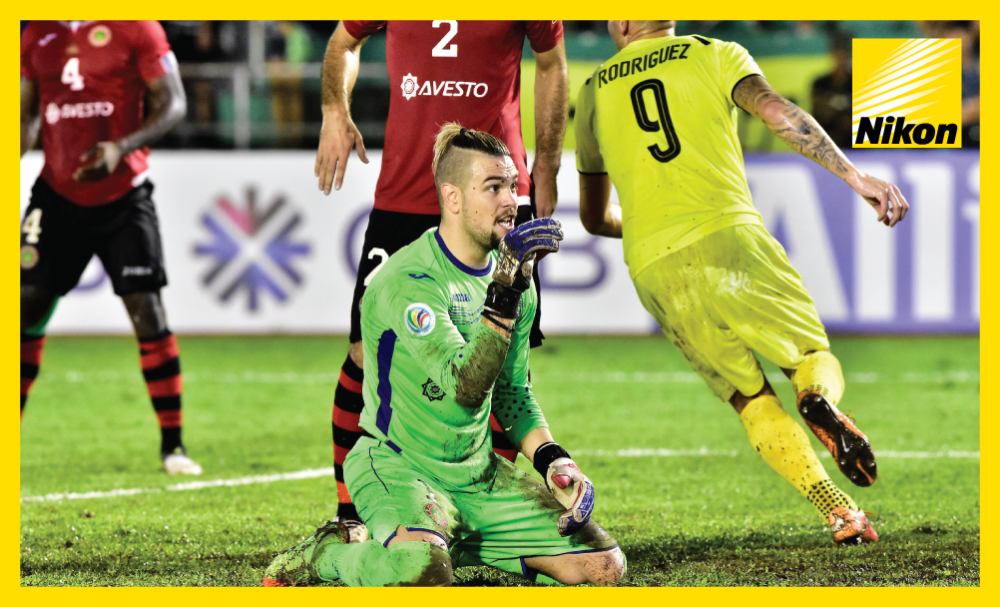 FC Istiklol goalkeeper Nikola Stosic in action against Ceres Negros in Bacolod, Philippines, as the Tajik club saw out a 1-1 draw to head to the 2017 AFC Cup Inter-Zone Final.