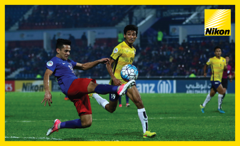 Johor Darul Ta'zim's Azrif Nasrulhaq tests his touch as the 2015 AFC Cup winners come from behind to defeat Myanmar's Magwe FC 3-1 in Group F and progress to the Zonal Semi-finals as the best-placed runner-up on Wednesday.