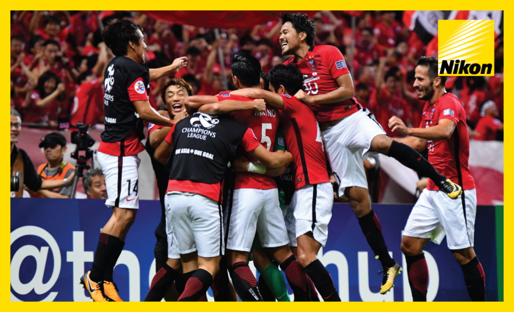Urawa Red Diamonds celebrate a sensational comeback victory after coming back from 3-1 down from the first leg to win their 2017 AFC Champions League quarter-final against Kawasaki Frontale.