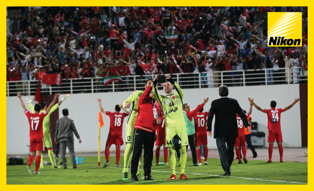 Persepolis players celebrate their 3-2 comeback win over Al Wahda in the AFC Champions League on Matchday Two.