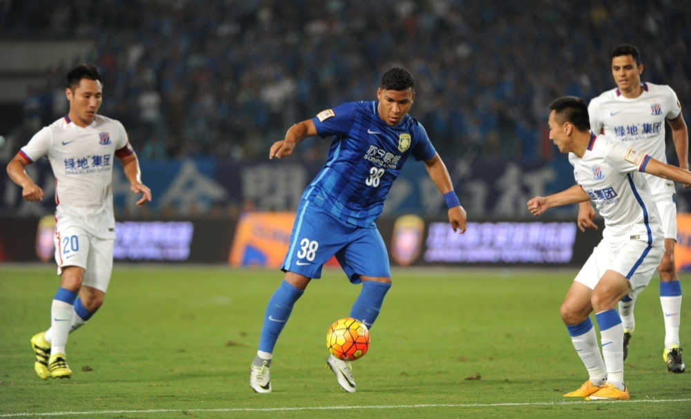 Colombian international Roger Martinez has been a revelation since joining Jiangsu FC from Argentine side Racing Club last year, forming a potent partnership with Brazilian Alex Teixeira as the Nanjing-based club strive to end Guangzhou Evergrande's domestic stranglehold.