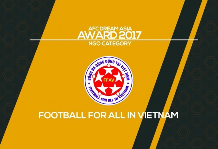 AFC Dream Asia Award 2017 winner - Football For All in Vietnam