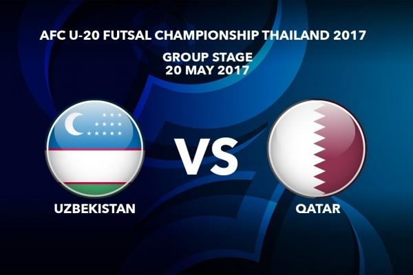 M39 UZBEKISTAN vs QATAR - AFC U-20 Futsal Championship Thailand 2017