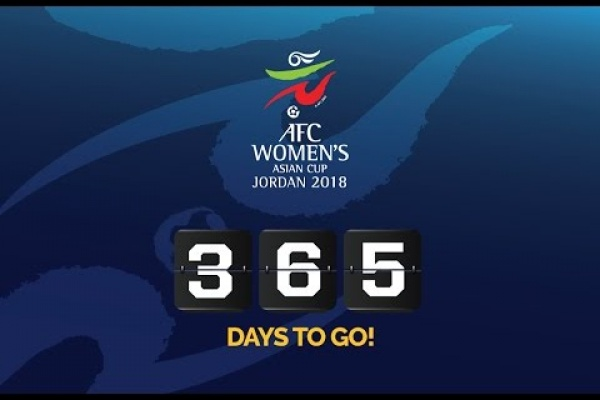 AFC Women's Asian Cup Jordan 2018. One year to the final, today.