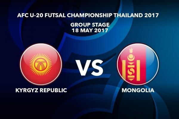 M22 KYRGYZ REPUBLIC vs MONGOLIA - AFC U-20 Futsal Championship Thailand 2017