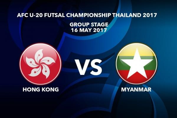 #AFCU20FC THAILAND 2017 - M03 Hong Kong vs Myanmar - Highlights
