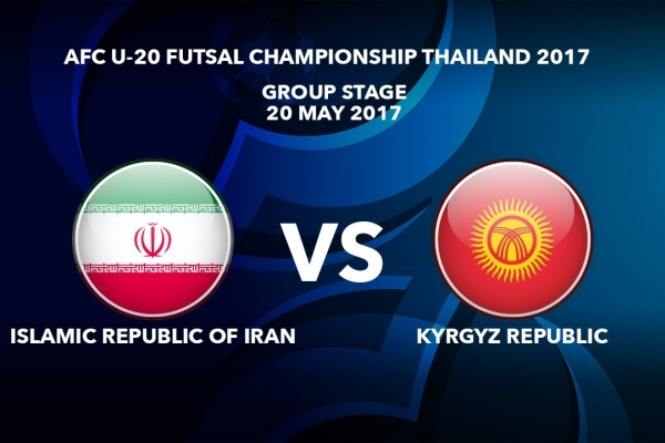 M40 ISLAMIC REPUBLIC OF IRAN vs KYRGYZ REPUBLIC - AFC U-20 Futsal Championship Thailand 2017