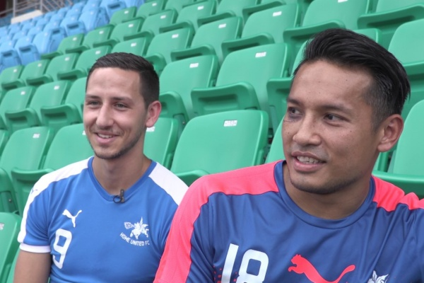 Quick fire questions with Home United's Stipe Plazibat and Hassan Sunny