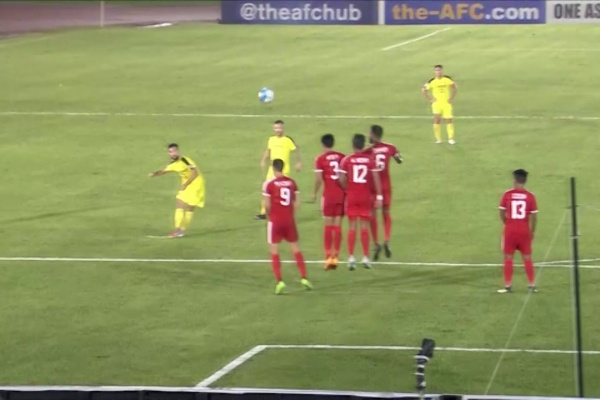 Superb free-kick from Manuel Ott!