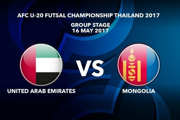 M04 UNITED ARAB EMIRATES vs MONGOLIA - AFC U-20 Futsal Championship Thailand 2017