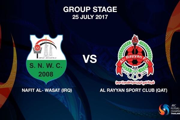 M18 - NAFIT Al- Wasat (IRQ) vs AL RAYYAN SPORT CLUB (QAT)