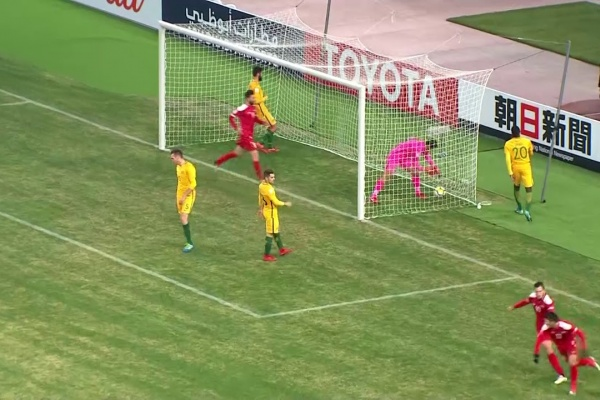 Syria pull one back through an own goal by Thomas Deng