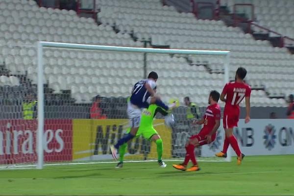 Omar Khribin heads Al Hilal into the lead!
