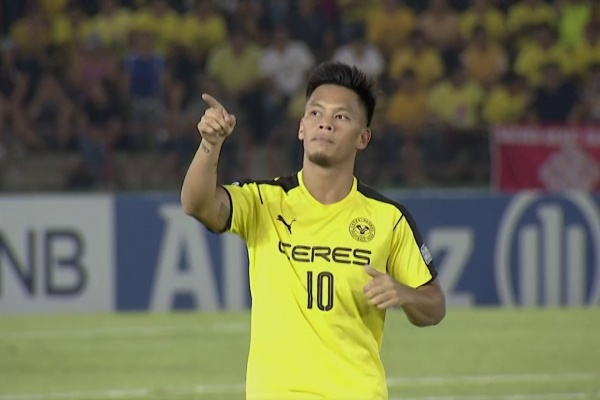 Jose Porteria gives Ceres Negros a very early lead against Home United!