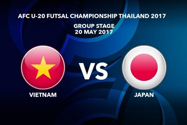 M44 VIETNAM vs JAPAN - AFC U-20 Futsal Championship Thailand 2017