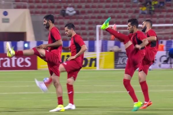 Persepolis and Al Hilal warming up!