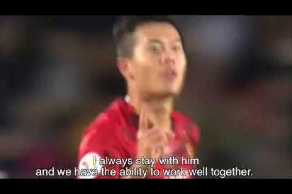 Guangzhou Evergrande's Huang Bowen analyses his great Ro16 goal at #ACL2015