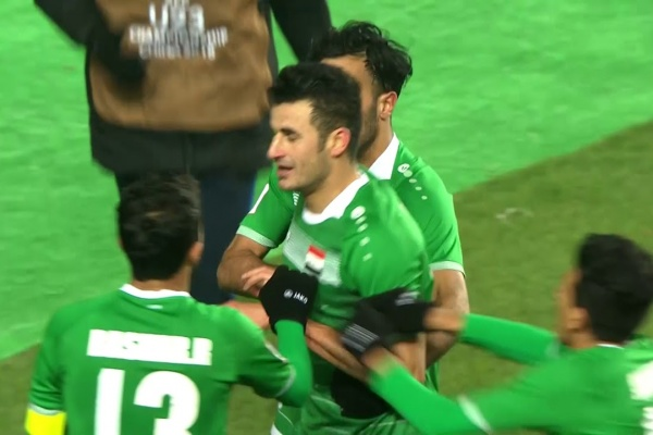 Aymen Hussein scores for Iraq in the first half of extra time!