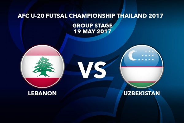 M30 LEBANON vs UZBEKISTAN - AFC U-20 Futsal Championship Thailand 2017