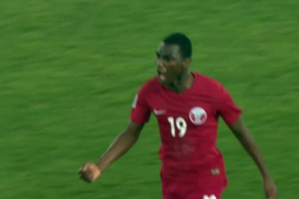 Almoez Ali fires Qatar into the lead!