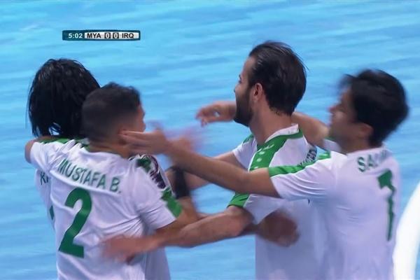 Myanmar 2-3 Iraq (AFC Futsal Championship 2018: Group Stage)