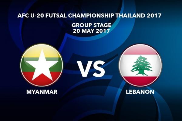 M37 MYANMAR vs LEBANON - AFC U-20 Futsal Championship Thailand 2017