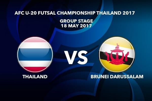 M27 THAILAND vs BRUNEI DARUSSALAM - AFC U-20 Futsal Championship Thailand 2017