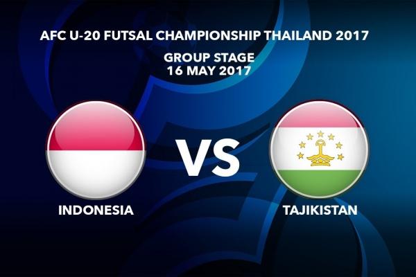 M08 INDONESIA vs TAJIKISTAN - AFC U-20 Futsal Championship Thailand 2017