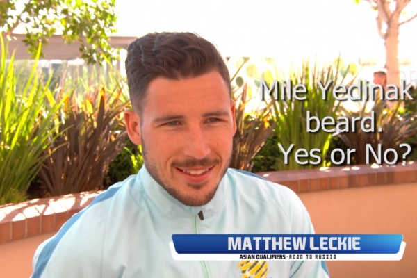 Mathew Leckie shares his thoughts on Mile Jedinak's beard and the best player he's ever faced