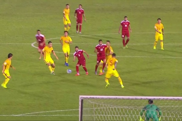 Mahmoud Al Mawas' penalty puts Syria in front against China!