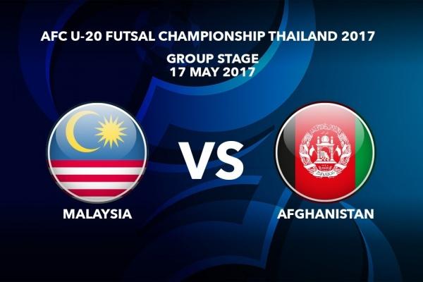 M14 MALAYSIA vs AFGHANISTAN - AFC U-20 Futsal Championship Thailand 2017