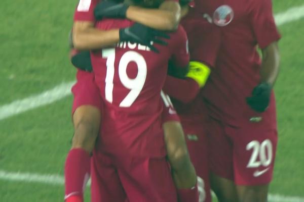Hashim Ali makes no mistakes to score Qatar's 3rd goal!