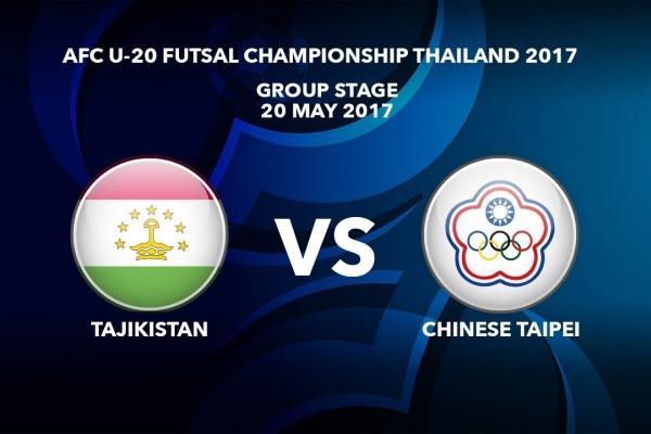 M42 TAJIKISTAN vs CHINESE TAIPEI - AFC U-20 Futsal Championship Thailand 2017