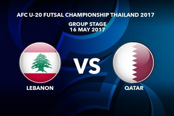 M01 LEBANON vs QATAR - AFC U-20 Futsal Championship Thailand 2017