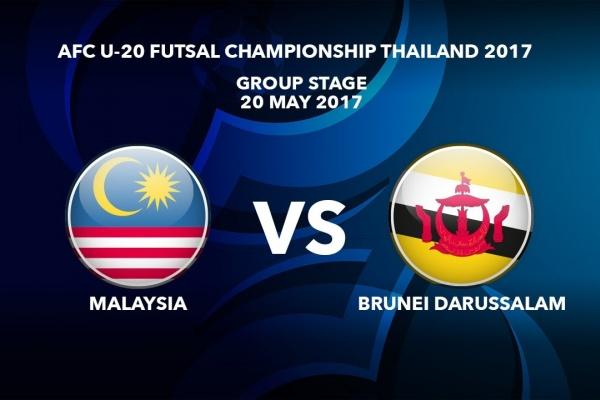 #AFCU20FC THAILAND 2017 - M43 Malaysia vs Brunei Darussalam  - Highlights