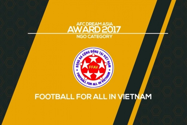 AFC Dream Asia Award 2017 winner - Football For All in Vietnam