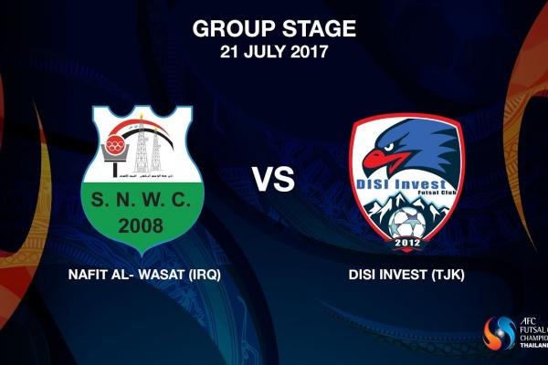 M06 - NAFIT Al- Wasat (IRQ) vs Disi Invest (TJK) - Video News