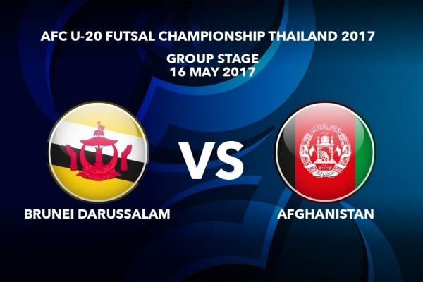 M07 BRUNEI DARUSSALAM vs AFGHANISTAN - AFC U-20 Futsal Championship Thailand 2017