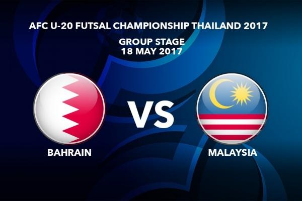 M23 BAHRAIN vs MALAYSIA - AFC U-20 Futsal Championship Thailand 2017